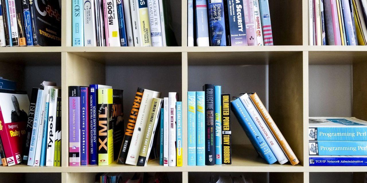 Photographie des livres dans la bibliothèque de Libéo à Québec