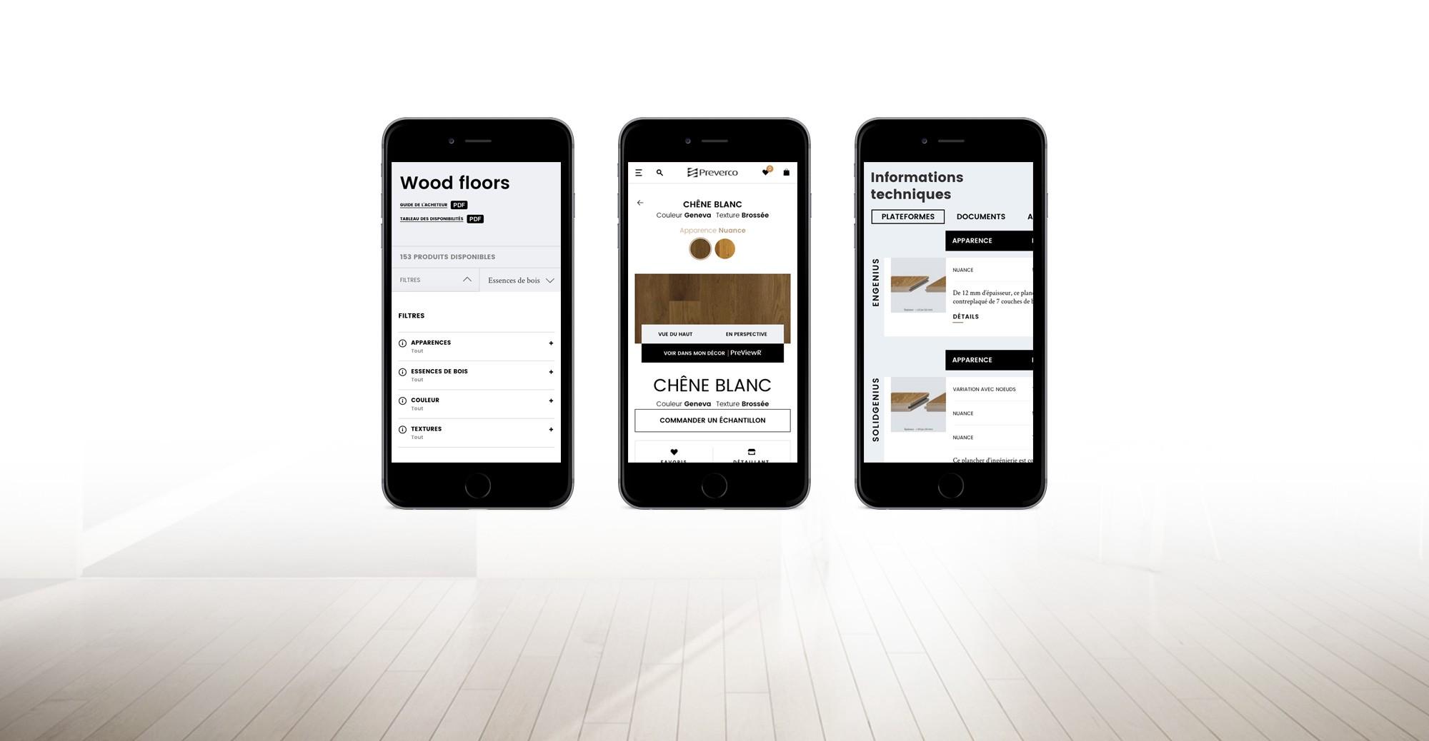Le site de Préverco, une plateforme accessible sur mobile