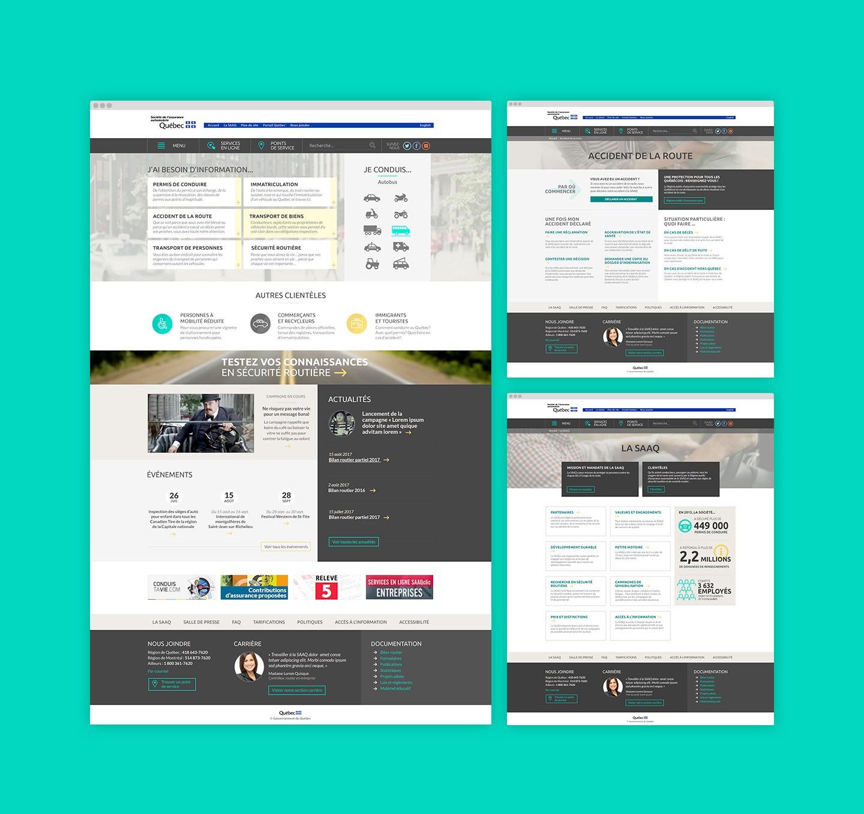 Illustration de la nouvelle plateforme web de la SAAQ