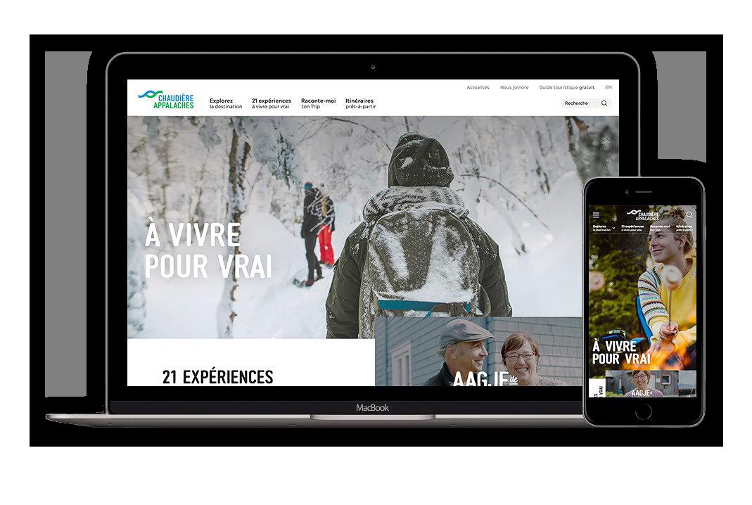Illustration du site Internet de Chaudière-Appalaches