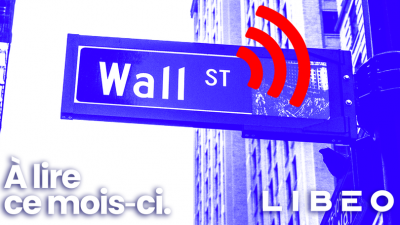 Libéo logo in front of a Wall Street sign