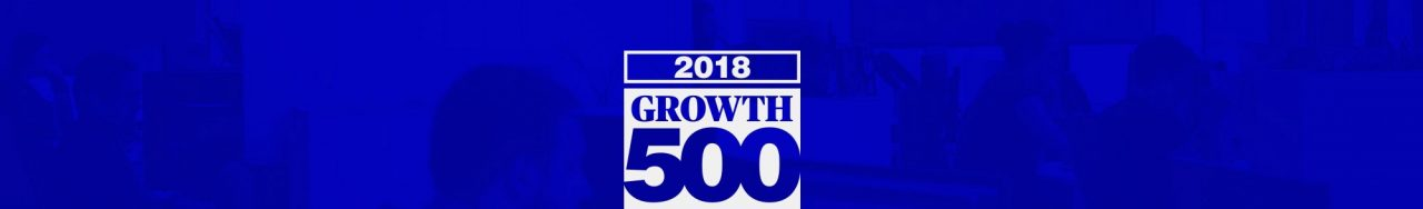 Logo du Growth 500 sur fond bleu