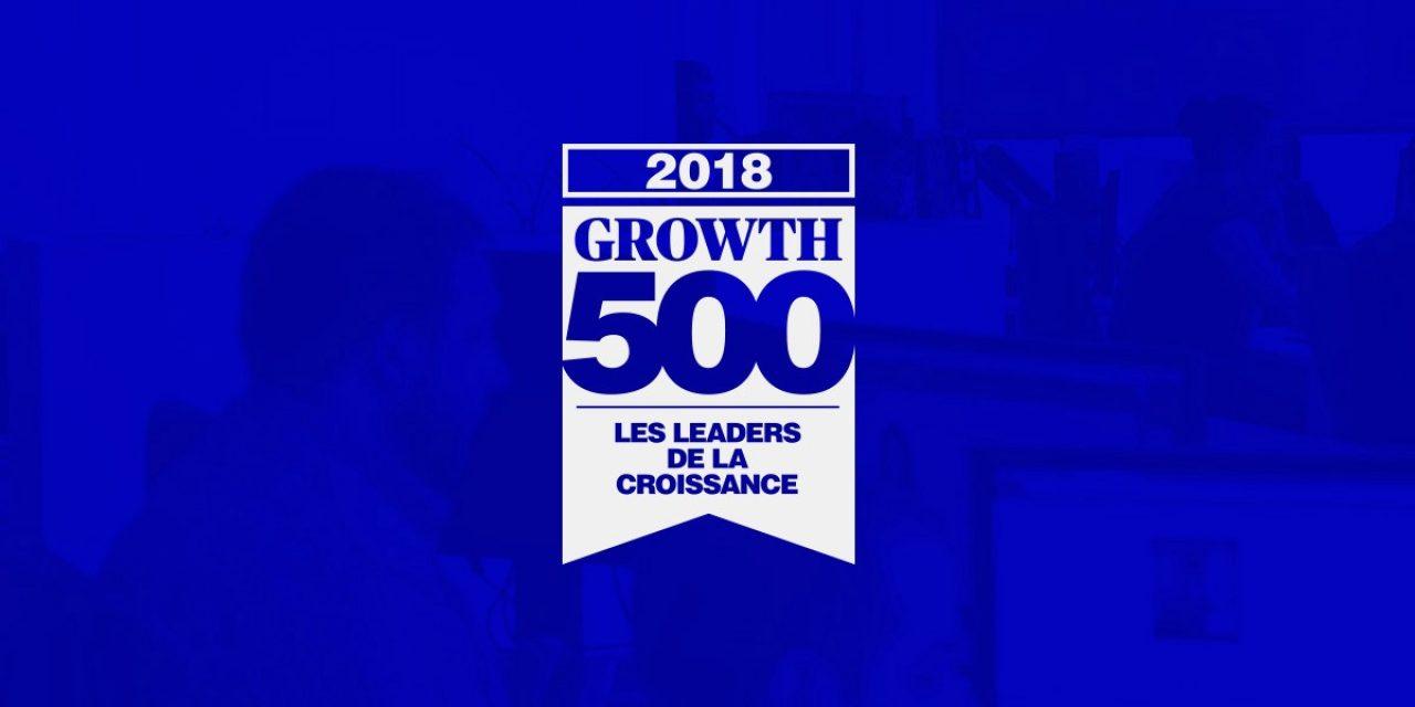 Logo du Growth 500 sur fond bleu