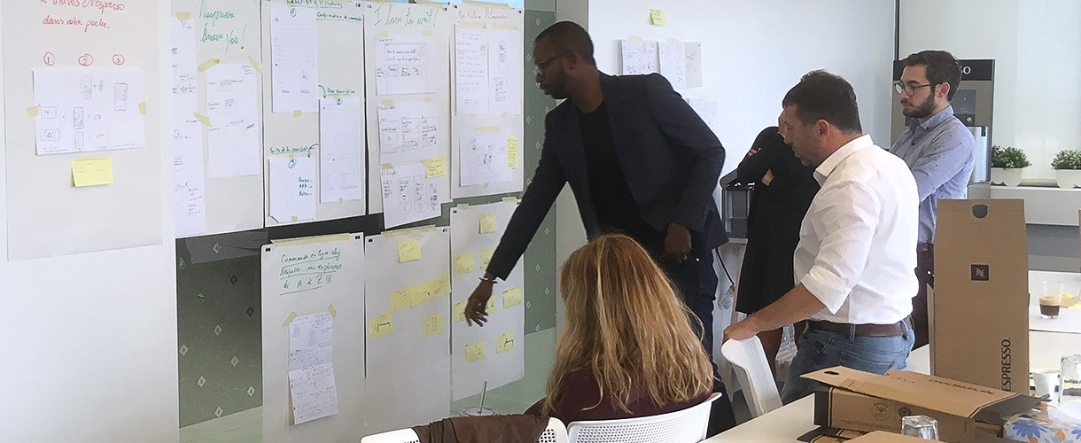Atelier de Design Sprint réalisé avec Nespresso en 2017