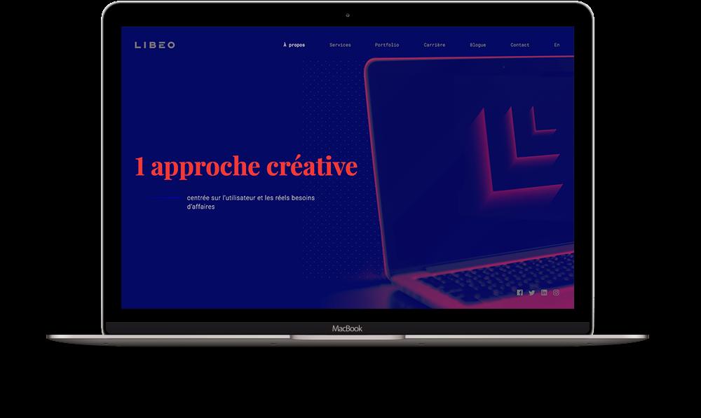 Illustration pour la partie de l'approche créative du site web