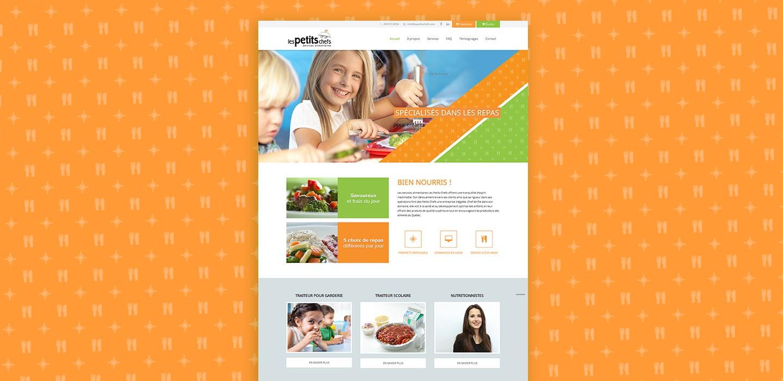 Plateforme web de Les Petits Chefs
