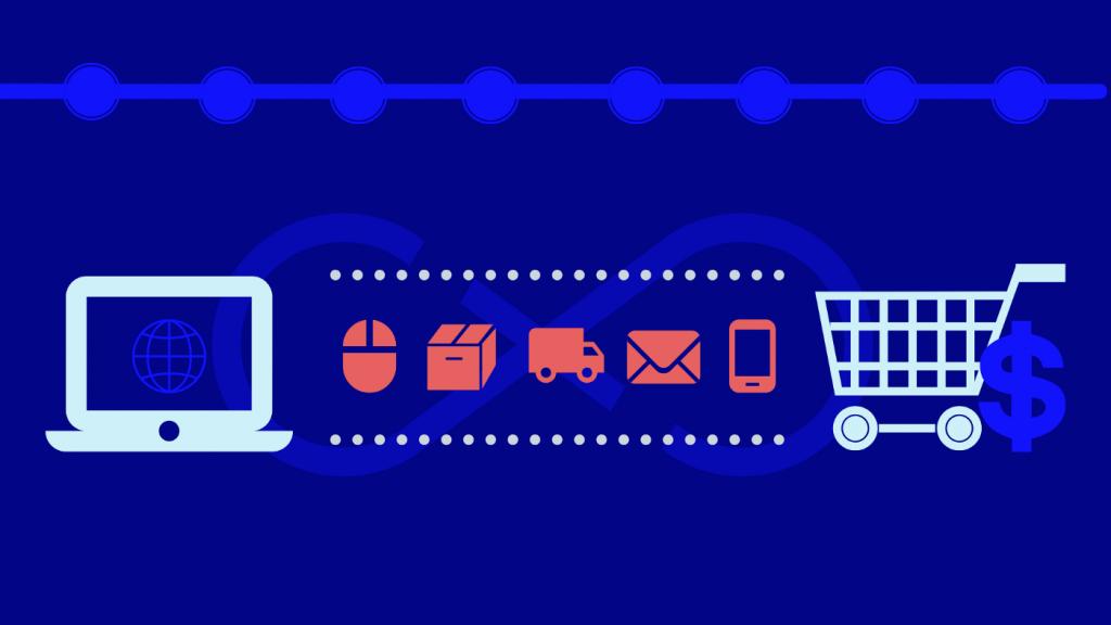 Illustration des flux dans le commerce en ligne