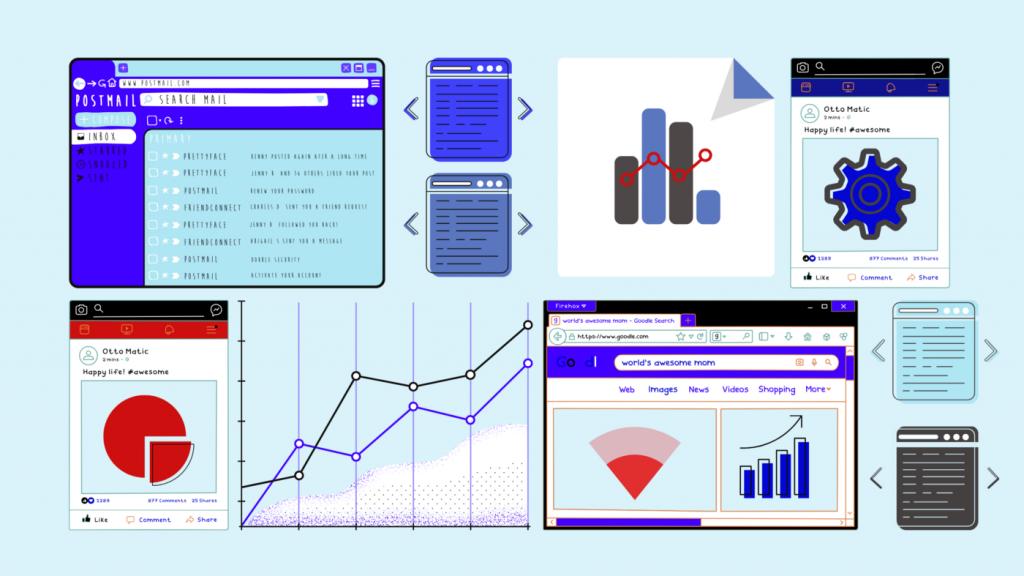 Tableau de bord de gestion des données
