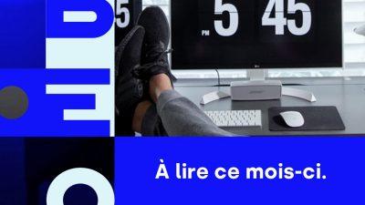 Bannière avec le nom de Libéo et un ordinateur de bureau