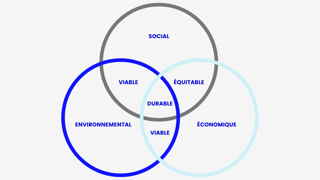Les piliers du développement durable — Adaptation de LCL Environnement
