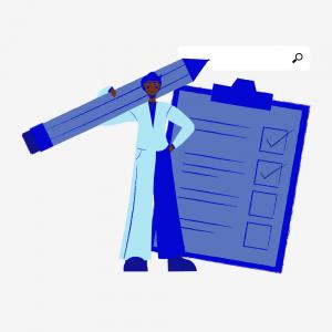 illustration d'une personne devant un rapport