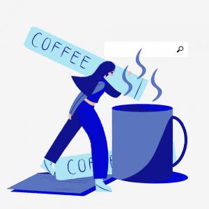 Personne avec un café