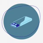 Icone de clé usb