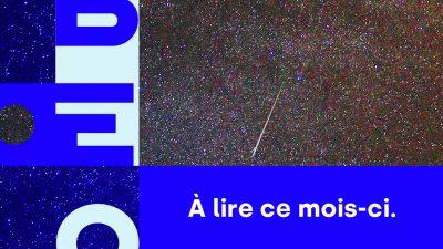 Bannière avec le nom de Libéo et l'image d'étoiles filantes pour illustrer l'infolettre de août 2020
