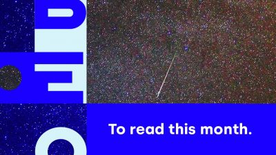 Banner with the name Libéo and the image of shooting stars