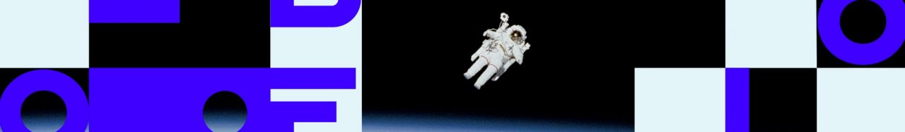 Libéo logo in front of an astronaut